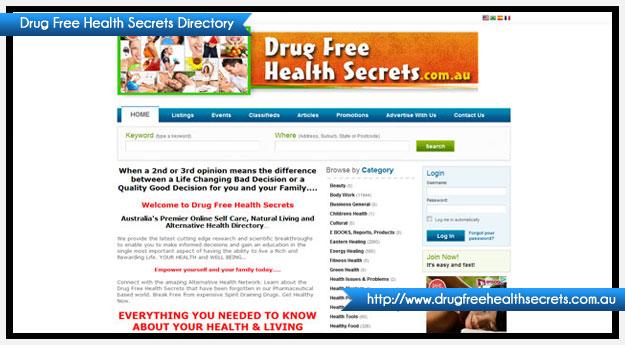Drug Free Health Secrets Directory - Australia