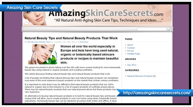 Amazing Skin Care Secrets
