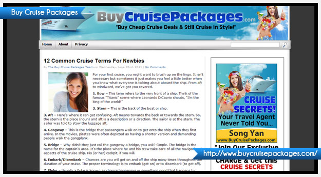 Buy Cruise Packages