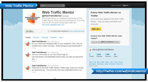 Web Traffic Mentor