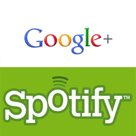 Google Plus and Spotify