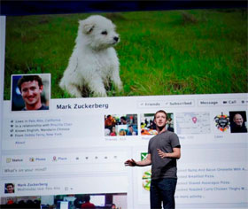Mark Zuckerberg with the New Timeline Profile