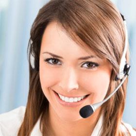 Happy Customer Service Representatives